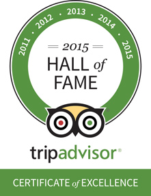 B&B Corte Campana awarded the Trip Advisor Hall of Fame