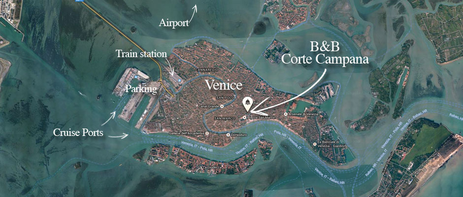 B&B Corte Campana is located in Venice, Italy