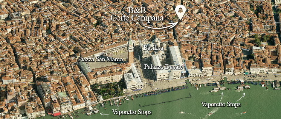 B&B Corte Campana is located in Venice, Italy, within walking distance to Piazza San Marco